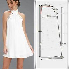 Dress Sewing Patterns, Blouse Patterns, Clothing Patterns, Fashion Sewing, Diy Fashion, Fashion Dresses, Diy Clothing, Sewing Clothes, Barbie Clothes