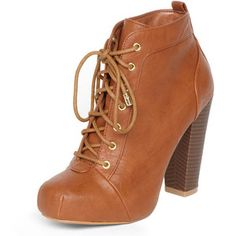 Tan lace up ankle boots - Dorothy Perkins - Polyvore