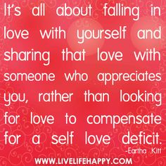 It's All About Falling In Love With Yourself