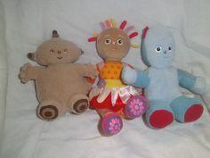 In the Night Garden - BBC  Makka Pakka/Upsy Daisy/IgglePiggle - 3 Soft Toys