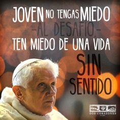 El Papa Benedicto XVI nos regala una bella frase: no tengamos miedo al desafío.