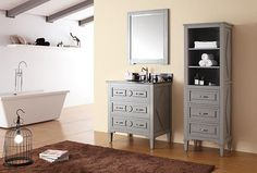 Avanity Kelly (single) 31-Inch Transitional Bathroom Vanity - Grayish Blue