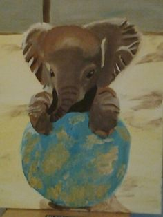 Cute elephant painting I made in class
