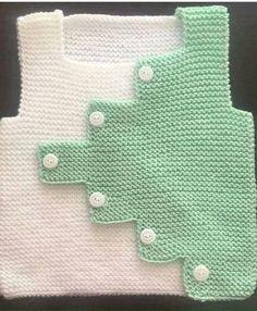 How To Make Zik Zak Cut Sweater Knitted As A Haraşo. Baby Knitting Patterns, Knitting Blogs, Knitting For Kids, Crochet For Kids, Knitting Socks, Knitting Designs, Baby Patterns, Knit Crochet, Baby Cardigan