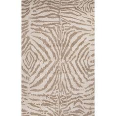 En Casa Collection Zebra Ikat Rug in Alluminum & Rainy Day by Jaipur