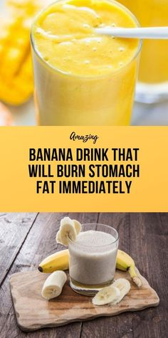 Banana Drink That Will Burn Stomach Fat Immediately - Healthy Diet Tips Health And Fitness Expo, Health And Wellness Coach, Fitness App, Wellness Fitness, Healthy Diet Tips, Healthy Life, Healthy Seeds, Fat Bombs, Healthy Breakfast Smoothies