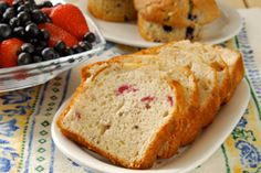 Homemade Strawberry Bread Recipe includes a delicious strawberry glaze and/or you can make strawberry butter for toast. Strawberry Bread Recipes, Strawberry Desserts, Strawberry Glaze, Strawberry Butter, Raspberry, Strawberry Breakfast, Summer Desserts, Cranberry Nut Bread, Cranberry Mayo