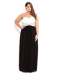 Contrast Camilla Maxi by City Chic. WANT!