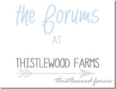Have a decorating question or need blogging advice?  Stop by and visit the forums!  Great group to join for ideas and inspiration.  thistlewoodfarms.com