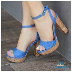salto alto - jeans - heels - denim - summer shoes - Ref. 14-21702 - Alto Verão 2015
