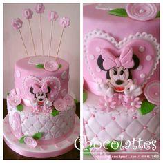 Minnie Mouse Cake Torta Pastel Chocolattes Disney Party Ideas