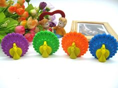 Peacock Rubber Erasers