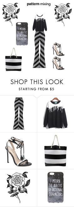 """""""pattern"""" by marthaloveone ❤ liked on Polyvore featuring Balmain, Forever 21 and patternmixing"""