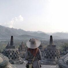 Aesthetic Photo, Aesthetic Pictures, Kana Hanazawa, Borobudur Temple, Hijab Fashion Inspiration, Buddhist Temple, Yogyakarta, Kirigami, Holi