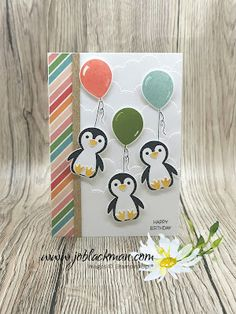 Homemade Birthday Cards, Christmas Card Crafts, Bday Cards, Small Flowers, Stampin Up Cards, Small Gifts, Balloons, Greeting Cards, Paper Crafts
