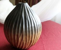 Vase curved in solid wood 8 tall 6 diameter by AnythingDiscovered, $46.00