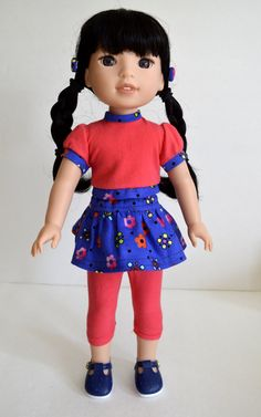 14.5 Doll Clothes Fits Wellie Wishers 3 Piece  by SMILESEWSWEET