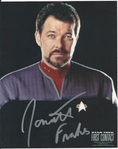 Jonathan Frakes - Star Trek First Contact signed photo | eBay