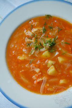 Polish Recipes, Polish Food, Lentil Soup, Lentils, Thai Red Curry, Dinner, Ethnic Recipes, Blog, Cucumber Salad