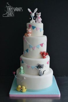 Wedding cake - wonderland wedding - Alice in wonderland cake - cat cake - rock'n'roll bride wedding cake - lobster, ducks, dinosaur, bunting - cheshire cat - white rabbit - alternative wedding cake - inspiration - Bracknell, Berkshire. Tiny Sarah's Cakes. www.tinysarahscakes.co.uk www.facebook.com/tinysarahscakes www.instagram.com/tinysarahscakes