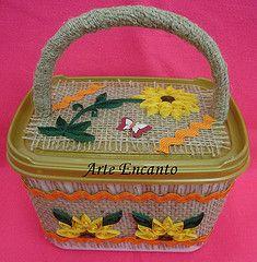 Pote de sorvete reciclado (ARTE ENCANTO - II) Tags: flower de flor reciclagem sorvete pote quilling reciclado quilled sianinha