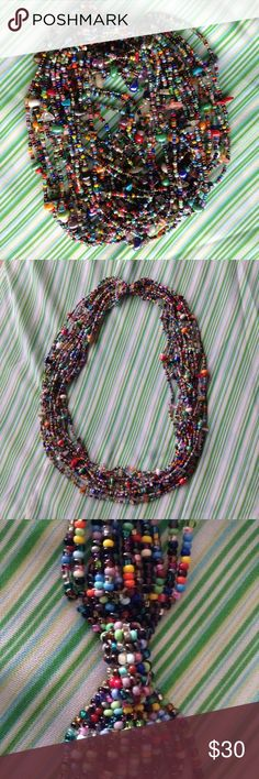 Multi strand beaded statement necklace Gorgeous colors of high end beads with a heavy duty magnetic clasp Jewelry Necklaces