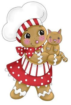 chef.quenalbertini: Gingerbread Girl Chef by Ronnie Rooney, Medium