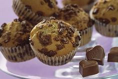 Muffin au Chocolat Milka® Good Food, Yummy Food, Cake Cookies, Cupcakes, Nutella, Biscuits, Brunch, Dessert Recipes, Butter