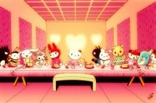 hello kitty last supper paining