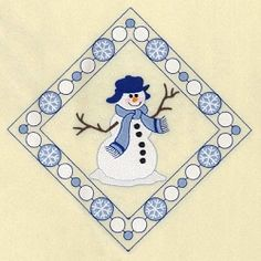 Snowman Diamond 11 | What's New | Machine Embroidery Designs | SWAKembroidery.com Starbird Stock Designs