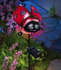 The new movie Gnomeo and Juliet is a new entry in the Romeo and Juliet series. It features some garden […] Ladybug House, Ladybug Girl, Ladybug Garden, Ladybug Picnic, Solar Garden Lanterns, Solar Pathway Lights, Solar Lights, Ladybug Crafts, Ladybug Decor