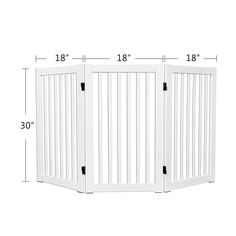(This is an affiliate pin) WELLAND Freestanding Wood Pet Gate White #DogFence Pet Gate, Dog Fence, Locker Storage, Pets, Wood, Furniture, Home Decor, Decoration Home, Woodwind Instrument