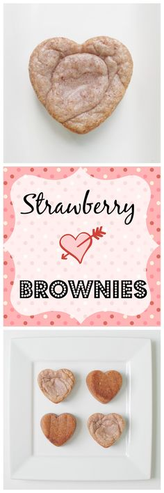 You'll love these white chocolate strawberry brownies, made with real strawberries for an unbelievably fruity flavor!  You can make them in heart shaped pans or in a regular 8-inch square pan.  A really fun recipe!