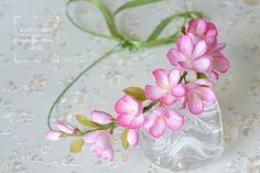 Pedazo de pelo nupcial de la flor de cerezo de por WisteriFlower