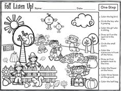 Fall Listen Up! Following Directions FREEBIE                                                                                                                                                                                 More