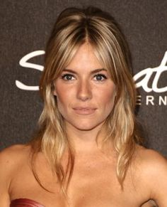 Half-Up - Bardot's inspired with bangs rocked by Sienna Miller