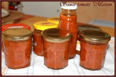 Sauce tomate en conserve, chou fleur, ratatouille Mayo Sauce, Best Lunch Recipes, Marinade Sauce, Homemade Pickles, Pickles Recipe, Tapenade, Batch Cooking, Some Recipe, Hot Sauce Bottles