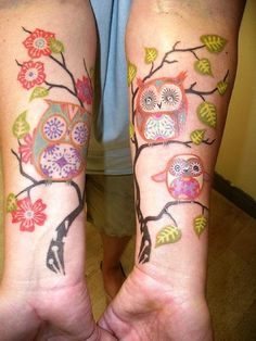 So cute! Owl tattoos!