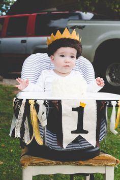 Where the Wild Things Are | First Birthday | Smash Cake | High chair ribbon banner