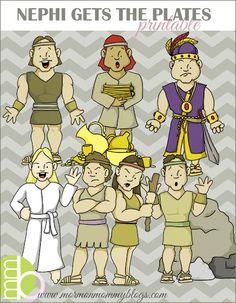 Free Printable Scripture stories Lehi's dream, Nephi, word of wisdom, etc