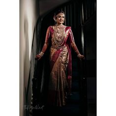 Best South Indian Brides Of 2019 We Came Across! - - We bet these South Indian brides of 2019 will give everyone the chills, don't you think so? These brides always take our breath away. South Indian Wedding Hairstyles, Indian Wedding Wear, Indian Bride And Groom, Wedding Dress, South Indian Weddings, Saree Wedding, South Indian Bridal Jewellery, Indian Bridal Sarees, Indian Bridal Makeup