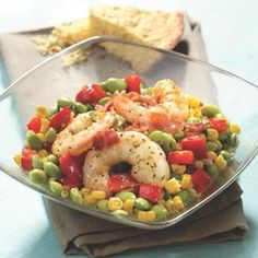 Edamame Succotash with Shrimp - EatingWell.com