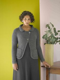 Ardsley Jacket in Lion Brand Wool-Ease - Discover more Patterns by Lion Brand at LoveKnitting. The world& largest range of knitting supplies - we stock patterns, yarn, needles and books from all of your favorite brands. Sweater Knitting Patterns, Knitting Yarn, Free Knitting, Knitting Ideas, Knitting Stitches, Knitting Projects, Lion Brand Wool Ease, Lion Brand Yarn, Free Baby Patterns
