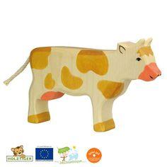 Vache en bois pie rouge - Holztiger
