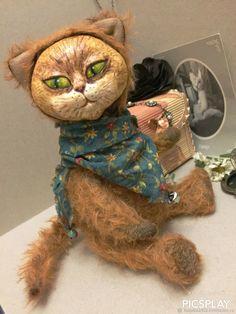 Тедди кот из мохера. Казимир – купить в интернет-магазине на Ярмарке Мастеров с доставкой - FZMB1RU   Москва Fictional Characters, Fantasy Characters