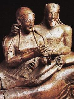 Il sarcofago degli sposi - arte etrusca - 520 a.c.