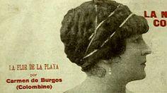 """Carmen de Burgos y Seguí, Colombine (Níjar, Almería, 1867 - Madrid, 1932). Periodista, escritora, traductora y activista de los derechos de la mujer española.  Amante de la libertad, criticada por críticos y escritores, su importancia como escritora fue relegada a ser la de """"amante"""" de Ramón Gómez de la Serna.  Entre sus novelas más conocidas se encuentra """"Puñal de claveles"""", escrita al final de su vida y basada en el suceso conocido como el crimen de Níjar."""