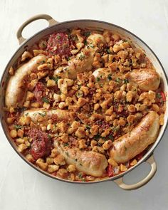 Pork Sausages and White Beans Recipe