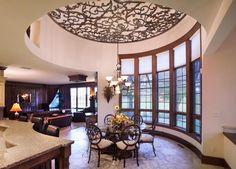 faux iron ceiling treatment