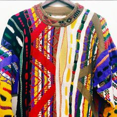 "Living better now, COOGI Sweater now. Size M Width. 38"" length. 26"" L Train Vintage: Vintage Clothing NYC"